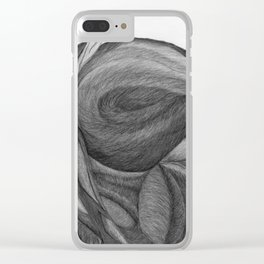 The Dream in Black and White Clear iPhone Case