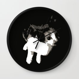 Beware the Demon Cat Wall Clock