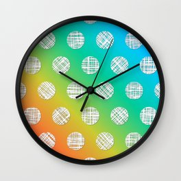 DP036-6 rainbow dotted Wall Clock