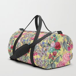 Floral on Yellow Duffle Bag