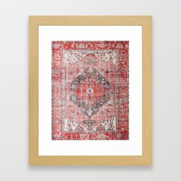 Vintage Anthropologie Farmhouse Traditional Boho Moroccan Style Texture Framed Art Print