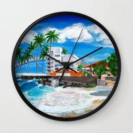 Isla Verde - $1M View, Carolina, San Juan, Puerto Rico Wall Clock