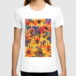 Golden Sunflower Garden T-shirt