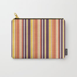 Happy Vertical LInes Carry-All Pouch