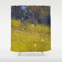 Snow in October Shower Curtain