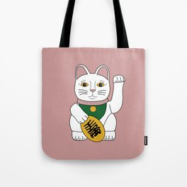Maneki Neko - lucky cat - pink Tote Bag