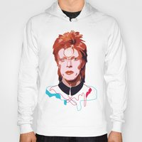 bowie Hoodies featuring Bowie by Anna McKay