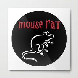 mouse rat logo Metal Print