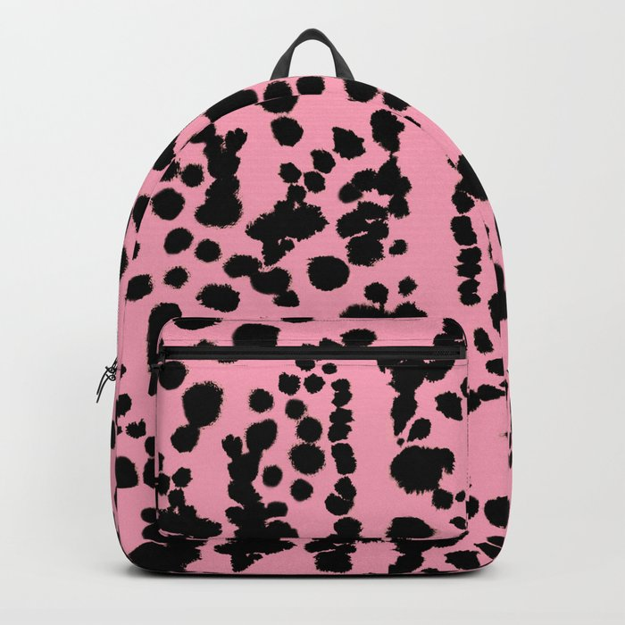 Pink and Black Dalmatian Backpack