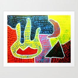 Aboriginal Art - Hand of Faith Art Print