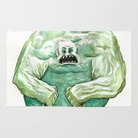 hulk Area & Throw Rugs featuring Hulk by Crooked Octopus