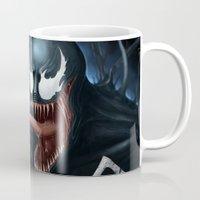 venom Mugs featuring Venom by Fr0stArt