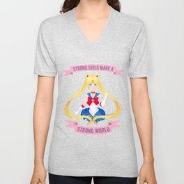 Strong girls - Sailor Moon Unisex V-Neck