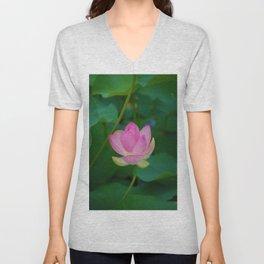 Lotus Blossom Flower 28 Unisex V-Neck