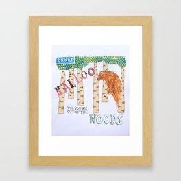 Don't Halloo! Framed Art Print