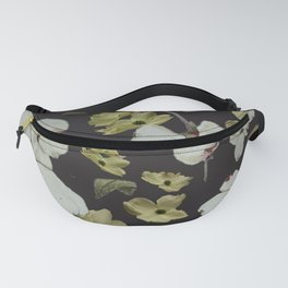 Dogwood Pedals on Black Fanny Pack