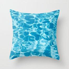 Geometric Pool Me - Retro Pool - Throw Pillow