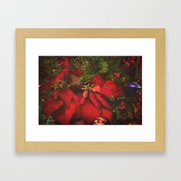 Red Poinsettia Framed Art Print