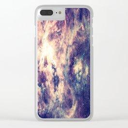 Tarantula Nebula Deep Pastels Clear iPhone Case