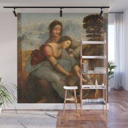 Leonardo da Vinci - Virgin and Child with St Anne Wall Mural