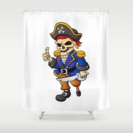pirate skeleton cartoon. Shower Curtain