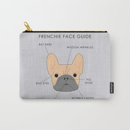 The French Bulldog Face Guide Carry-All Pouch