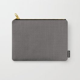 Cheap Solid Dark Ash Gray Color Carry-All Pouch