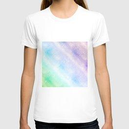 Modern Blue Purple Glitter Ombre Glam Design T-shirt