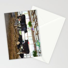 Black and white cow 2 Stationery Cards