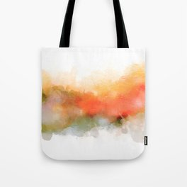 Soft Marigold Pastel Abstract Tote Bag