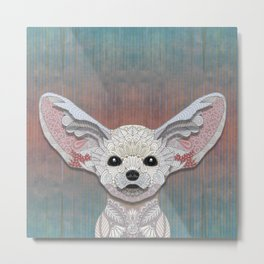 Fennec Fox Metal Print