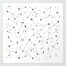 Constellations (White) Art Print