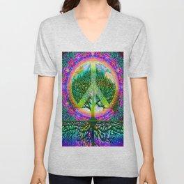 Tree of Life Peace Unisex V-Neck