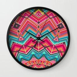 picchu pink Wall Clock