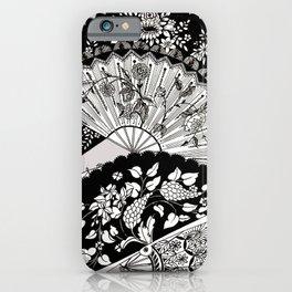 antique hand fan iPhone Case
