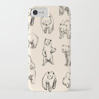 bears iPhone & iPod Cases featuring Bears by leah reena goren