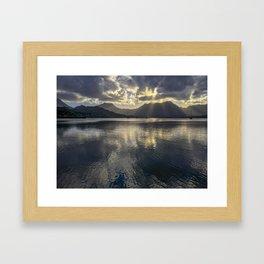 Dusk over Kaneohe Bay Framed Art Print