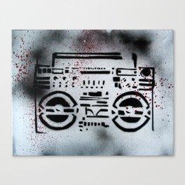 Boom Box Canvas Print