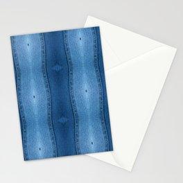 Denim Diamond Waves vertical patten Stationery Cards