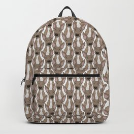 Cute Fawn Greyhound with white belly Backpack