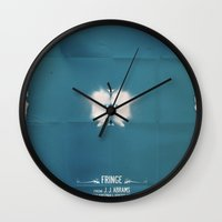 fringe Wall Clocks featuring FRINGE by Pedro Semedo