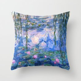 Water Lilies Monet Throw Pillow