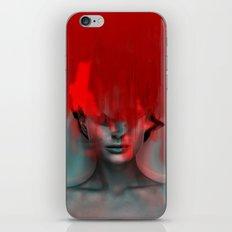 Red Head Woman iPhone & iPod Skin