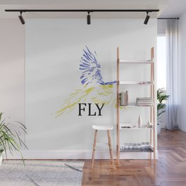 Flying Parrot Wall Mural