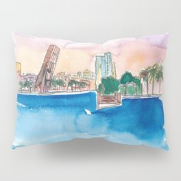 Fort Lauderdale Skyline Sunset In Florida Pillow Sham