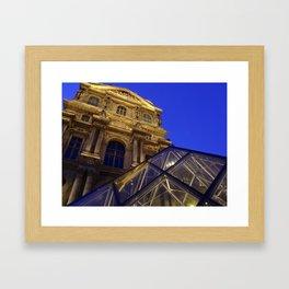 Musée du Louvre - modern and old, Paris Framed Art Print