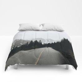 Moraine Lake Road Comforters