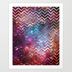 Galaxy Chevron Art Print