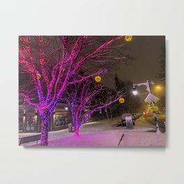 Longfellow Square Christmas Lights (2) Metal Print