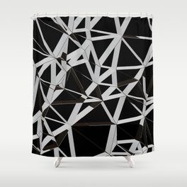 3D Futuristic GEO Lines V Shower Curtain